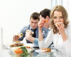 Вкусная и здоровая пища для обеда в офис