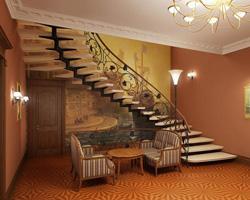 Как украсить интерьер лестницей