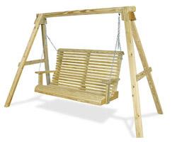 Как построить детские качели на даче
